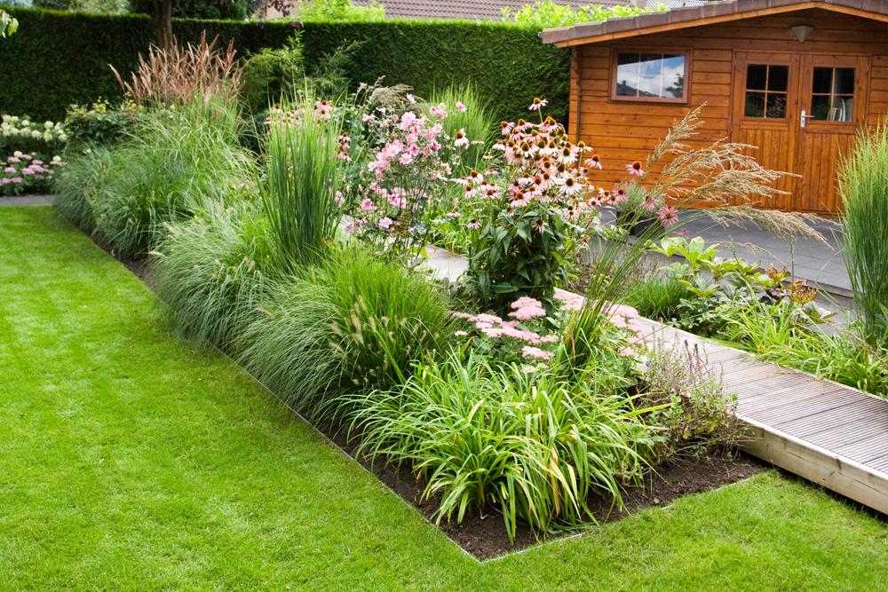 Abtrennung Garten alu mevo edge pro leicht biegsame randbegrenzung