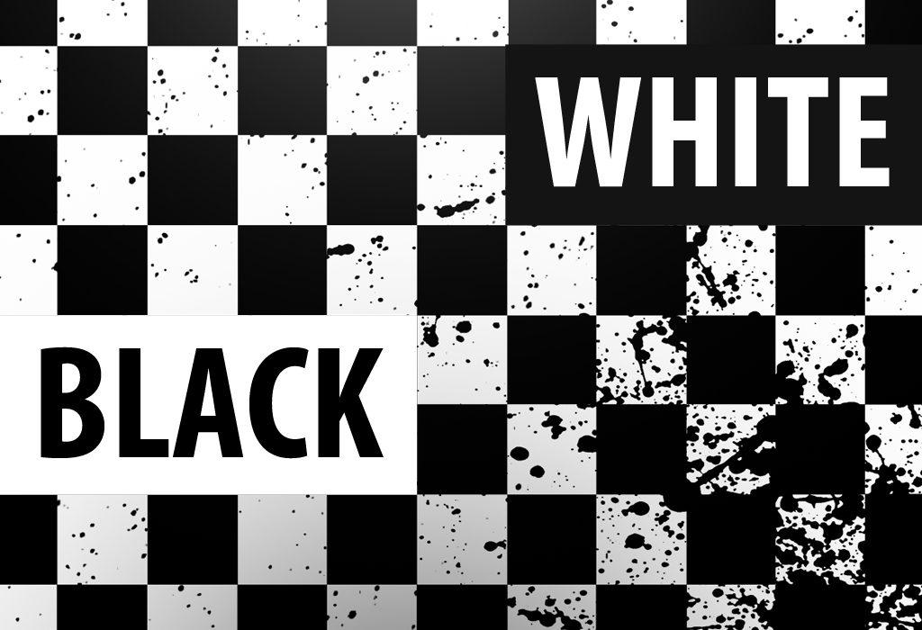 white-black